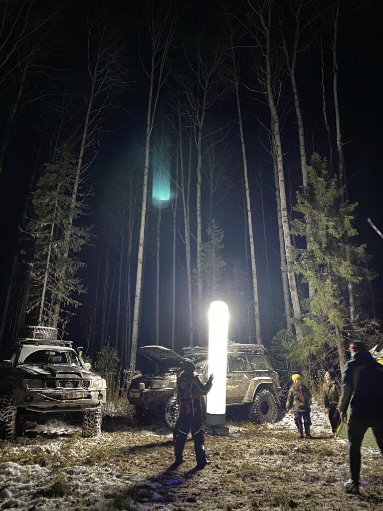 Воломы. Лагерь. Световой фонарь